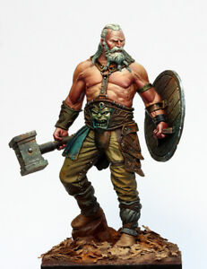 Details about 1:24 Barbarian Warrior 75mm Resin Figure High Quality Resin  Model Kit