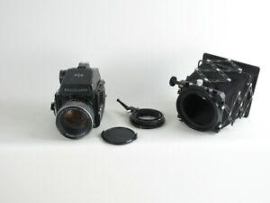 Mamiya-M645-1000s-4-5x6-SLR-Mamiya-Sekor-C-1-1-9-f-80mm-Messprisma-Balgen