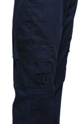 Weiblich Damen Arbeitskleidung Uniform Combat Cargo Security Hosen Marineblau//