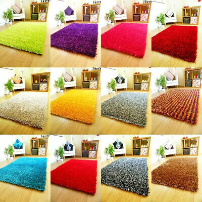 Rugs Sparkle Thick Plain Shaggy Runners