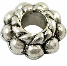 6mm Tibetan Antique Silver Daisy Spacers, LARGE Hole, FORTY, Lead, Cadmium Free