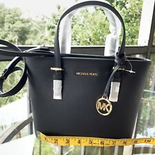 Michael Kors Jet Set Travel 35t9stvw1l Black Saffiano Leather XS Tote Bag