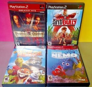 Disney-Over-the-Hedge-Nemo-Ant-Bully-Pirates-PS2-Playstation-2-COMPLETE-Game-Lot