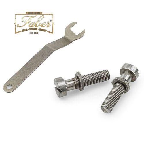Faber Wrap-Lock-Kit WL-I-NA WLINA Locking Tailpiece-Studs Nickel Aged Inch 3351