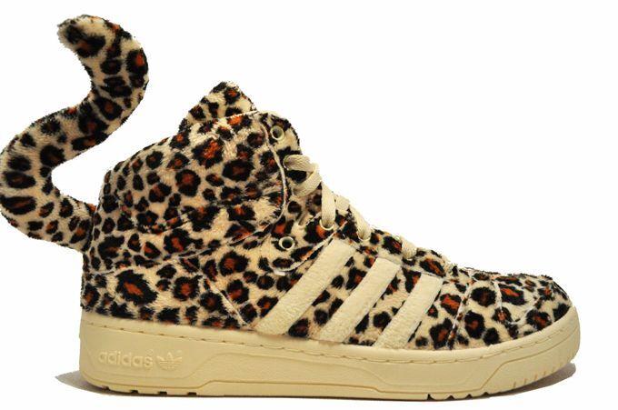 Authentic-Adidas JEREMY SCOTT LEOPARD OBYO Baskets OS Teddy Chaussures  Homme SZ 12