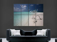 MALDIVES BEACH LUXURY SEA PLANE  MAGE  WALL LARGE PICTURE POSTER GIANT