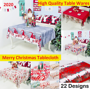 Tablecloth Merry Christmas Table Decor For Home 2020 Ornament Xmas Party New Hq Ebay