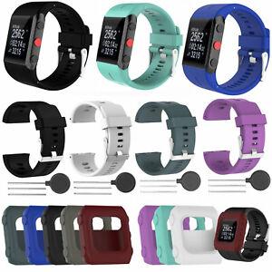 Sport-Silikon-Uhrenarmband-Strap-Ersatzband-Armband-Fuer-Polar-V800-Uhr-mit-Tool
