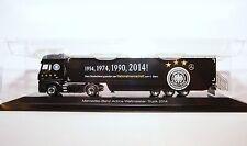 Herpa 121590 Mercedes-Benz Actros Gigaspace DFB WM-Promotion-Truck 2014 1:87 NEU