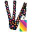 High-quality-ID-badge-holder-RAINBOW-STRIPES-amp-Secure-Lanyard-neck-strap-soft thumbnail 42