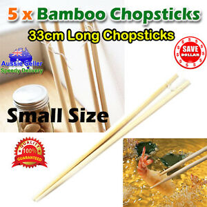 5x-33cm-Long-Oriental-Bamboo-Chopsticks-Wooden-Fry-Frying-Food-Kitchen-Cooking