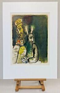 Museal-ORIGINAL-Marc-CHAGALL-Lithographie-465-Rares-EXODUS-Blatt-Anno-1966