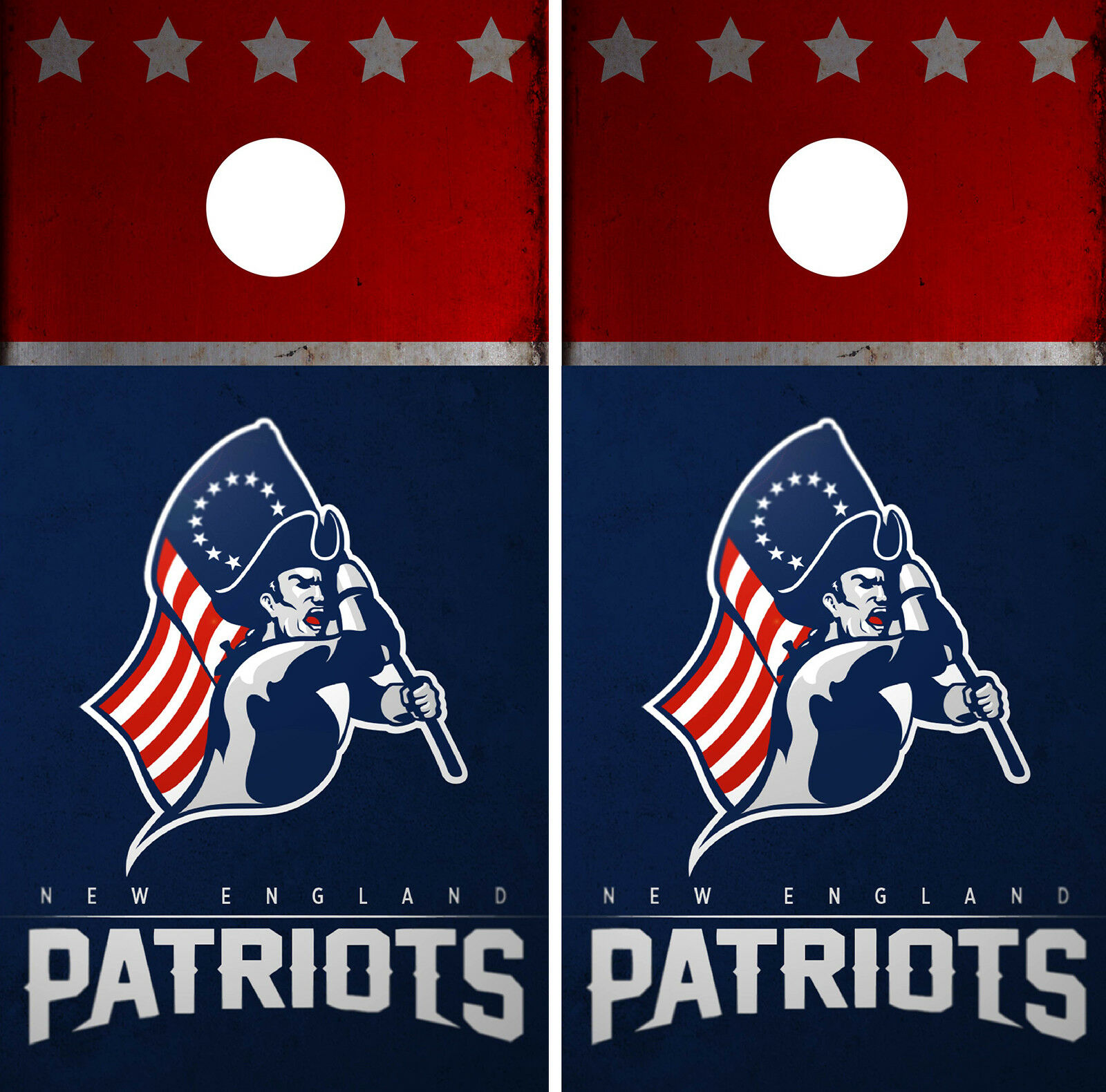 New England  Patriots Cornhole Wrap NFL Skin Game Board Set Vinyl Decal CO23  up to 42% off