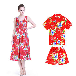 e66621a2db23 Image is loading Mother-Son-Matching-Hawaiian-Luau-Party-Dance-Dress-