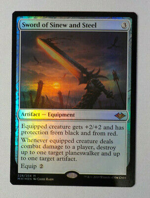 x1 English -BF Foil Sword of Sinew and Steel 1x Modern Horizons Near Mint