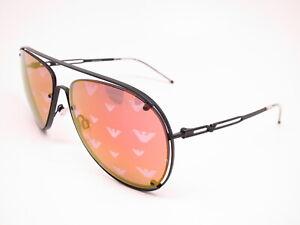 New-Authentic-Emporio-Armani-EA-2073-3001-6Q-Matte-Black-Mirrored-Sunglasses