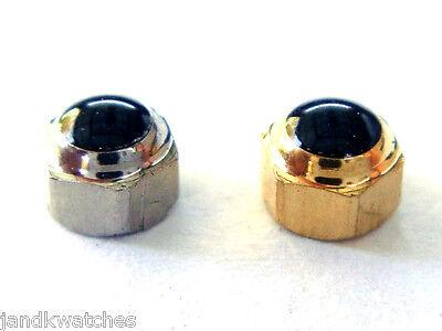 Waterproof Crown with Black Stone 3.2mm Diameter