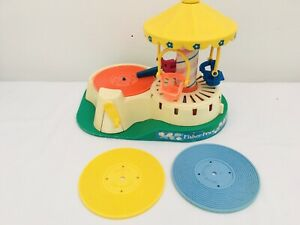 Vintage-Fisher-Price-Merry-Go-Round-1980s-amp-3-records