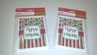 100 Mini Treat Plastic Candy Bags Happy Holidays Party Supply 4 X 6 Christmas
