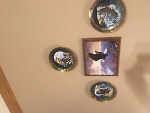 The-Franklin-Mint-Royal-Doulton-Profile-of-Freedom-Eagle-Collectors-Plate-Great