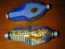 2 HOSE FITTING:King Tut Pharaoh Hookah Pipe Ends Accent Decor Egypt Egyptian NEW