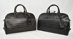 Image Is Loading Michael Kors Bryant Medium Embossed Leather Duffle Overnight