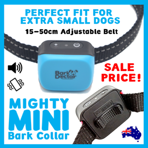 BARK DOCTOR MINI BARK COLLAR 2.0 CHIHUAHUAS TOY 15-55cm neck USB RECHARGEABLE