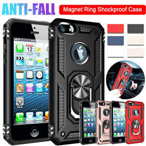 For-iPhone-SE-5-5s-Hard-Armor-Case-Shockproof-Bumper-Hybrid-Ring-Holder-Cover