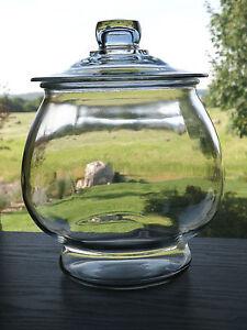 Anchor Hocking Large 10 Storage Cookie Jar Terrarium Canister W
