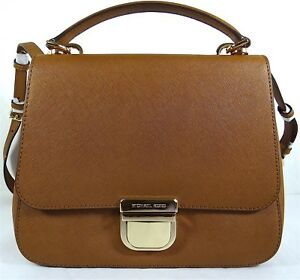 18a993924e6dde Image is loading Michael-Kors-Bridgette-Luggage-Saffiano-Leather-Medium-Top-