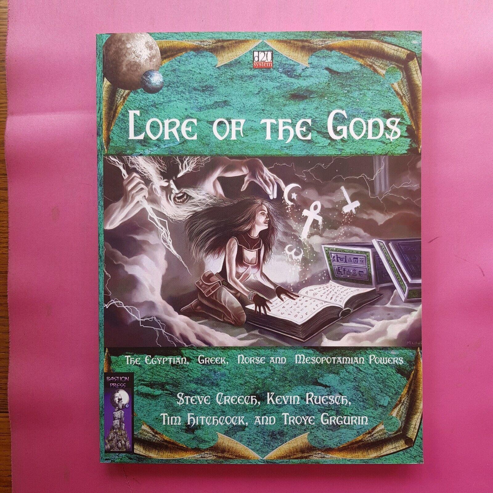 Lore De Los Dioses-juego de rol RPG DND D&D D20 Gaceta OSR mitología bastión