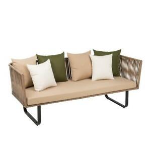 Polyrattan Lounge Couch Garten Sofa Sitzgruppe 3 Sitzer
