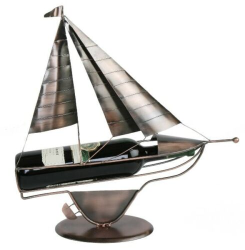 Flaschenhalter Segelschiff  Weinflaschenhalter kupferfarben Segler Schiff Segel