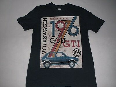GENUINE VW MERCHANDISE VW WOMENS LARGE BLACK RED GTI T-SHIRT