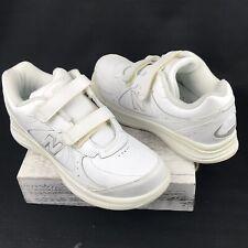 White - Hook and Loop Walking Sneakers