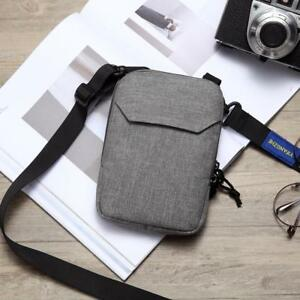 Mens Bag Crossbody Unisex Small Storage Phone Messenger Shoulder Straps Pouches