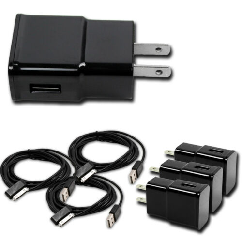 3X 2A WALL POWER ADAPTER+3FT 30PIN CABLE CHARGER BLACK FOR GALAXY TAB 2 7.0