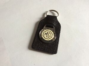 Genuine-Leather-Quality-Keyfob-Mg-Midget-White-Background