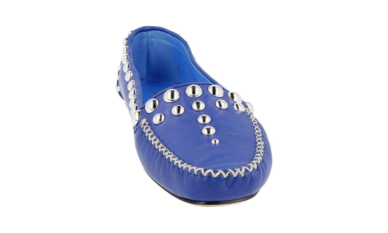 LUSSO Scarpe morbida Prada 1d778e blu morbida Scarpe Nappa Nuovo New 41 41,5 894e1f