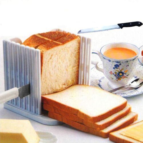 Kitchen Portable Bread Toast Slicer Cutter Maker Mold Kitchen Guide Slicing
