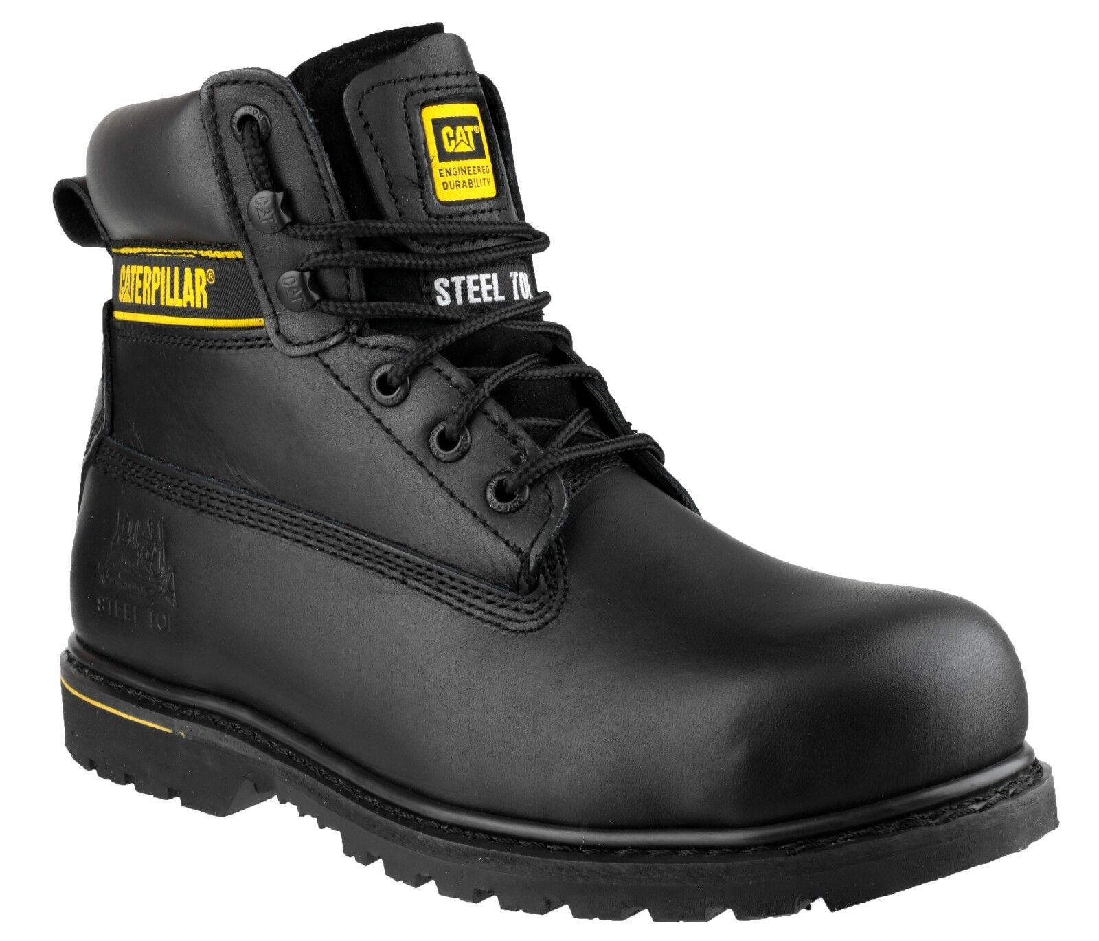 Cat holton black safety boots with toe Iron & Midsole Size s3