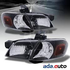 1997-2005 Chevy Venture/Pontiac Montana Black Headlights w/ Corner Signal Lights