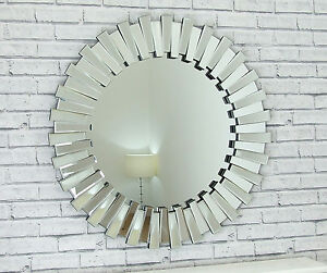 Circle Wall Mirror chelsea art deco bevelled venetian round star wall mirror large