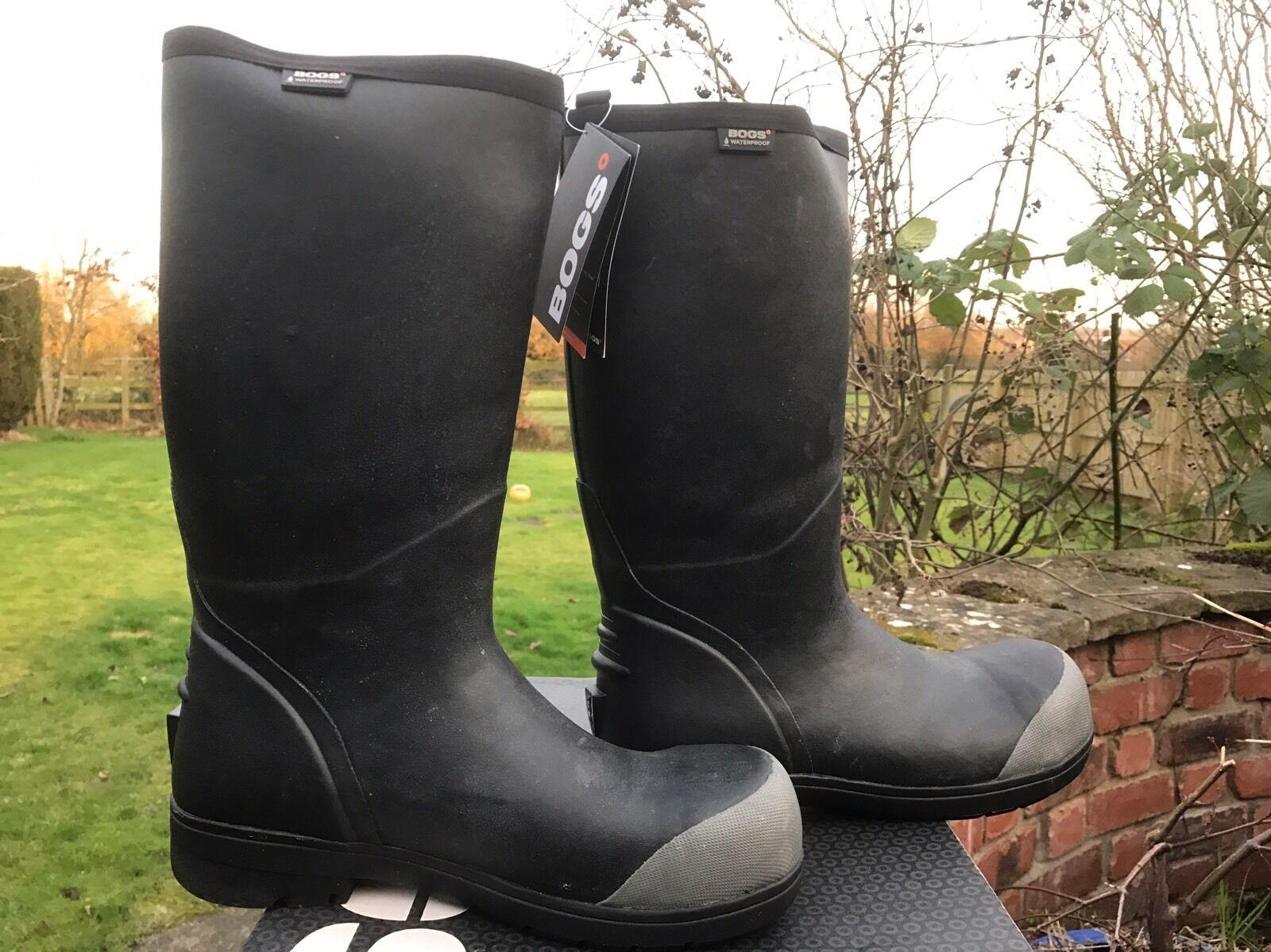 Men's Bogs Food Pro High Safety Steel Toe Non Slip Wellington Boots 71477CE UK 8