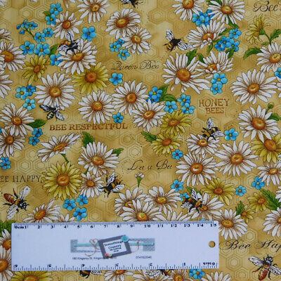 Patchwork Quilting Sewing Fabric Pink Yellow Floral Allover 50x55cm FQ New