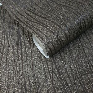 Mica-chip-stones-Brown-Modern-Natural-Wallpaper-Vermiculite-Lines-wall-coverings
