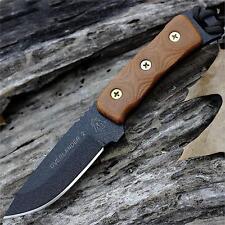 Couteau de Survie Tops Overlander 2 Carbone 1095 Manche Tan Micarta USA TPOV78