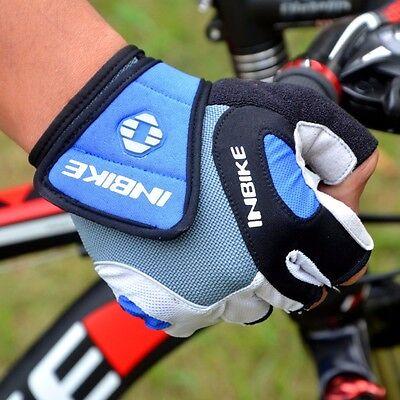 Guanti bici bicicletta mtb bmx INBIKE uomo/donna in gel rosso o blu
