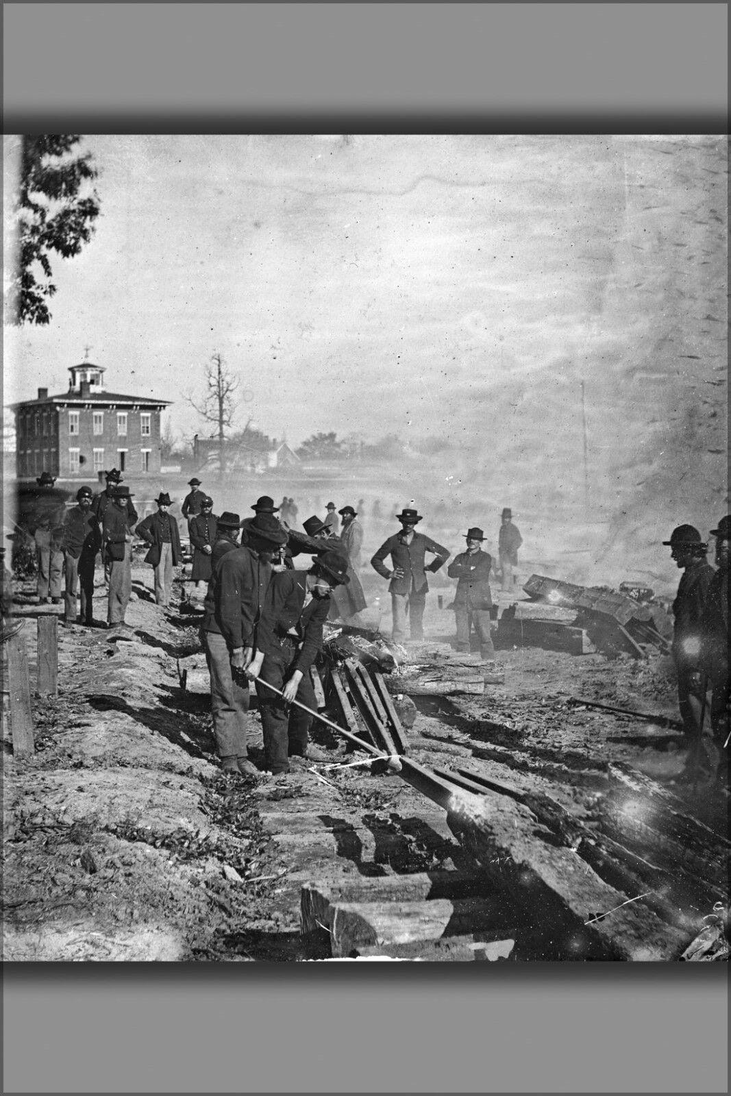 Poster, Many Größes; Atlanta, Georgia. General Sherman'S Men Destroying Railroad