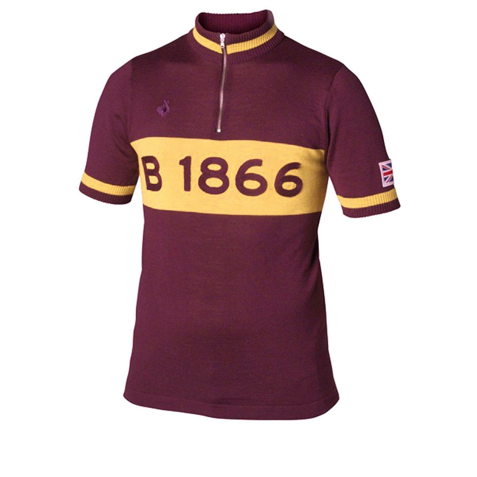 Brooks L  Eroica T-Shirt Cotton Jersey Jersey Bike Jersey B1866 Burgundy Red  store online